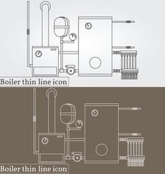 Boiler thin line design Boiler pen Icon Boiler Ico vector