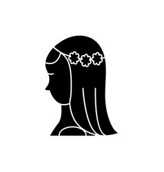 bride icon sign on isolate vector image vector image