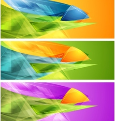 Bright banners with abstract shapes vector image