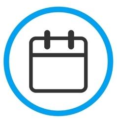 Calendar Leaf Circled Icon vector