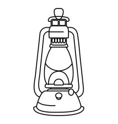 Camping lantern lamp cartoon vector