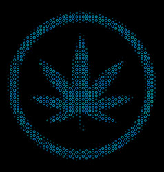 cannabis mosaic icon of halftone circles vector image