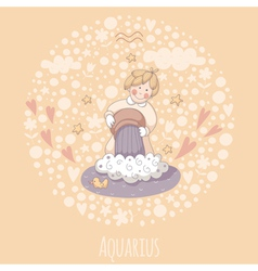 Cartoon of the water-bearer Aquarius vector image