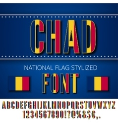 Chad Flag Font vector image