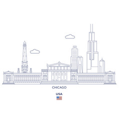 chicago city skyline vector image