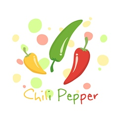 Chili Pepper Vegetable Red Green Yellow vector image