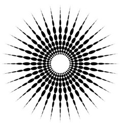 circular motif element radial dotted lines with vector image