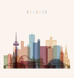 cologne skyline detailed vector image