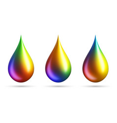 colorful gradient drops on white background vector image