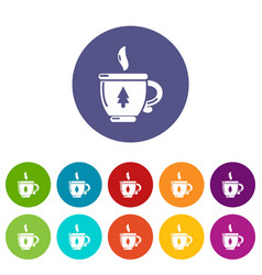 cup tea icon simple black style vector image
