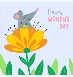 cute rat for women39s day vector image