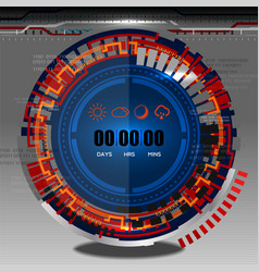 cyber timer vector image