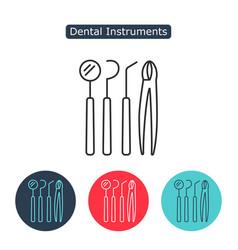 dental instruments icon vector image vector image