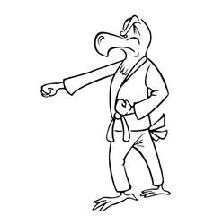 eagle martial artist outline vector image