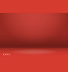 empty red studio room background vector image