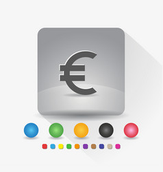 euro european currency symbol icon sign symbol vector image
