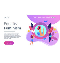 feminism concept landing page vector image