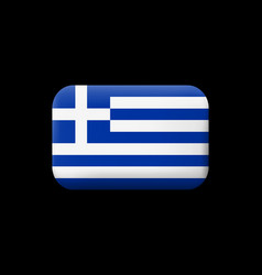 Flag of greece matted icon and button vector
