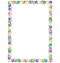 Frame for congratulations easter with eggs vector