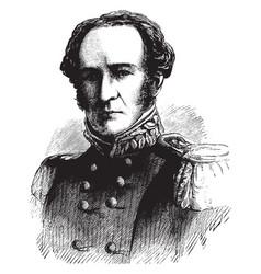 General george stoneman vintage vector