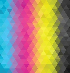Geometric pattern CMYK vector