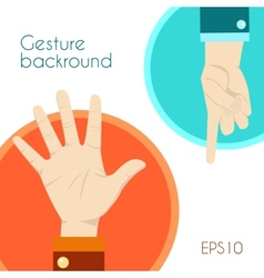 Gesture signs background vector image
