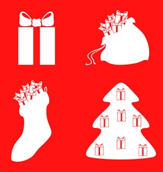 gift setred vector image