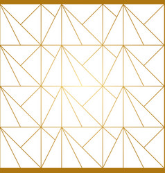 golden lines geometric seamless pattern vector image