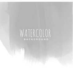 gray hand painted watercolor texture vector image