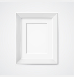gray rectangular photo frame with shadow vector image
