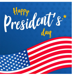 happy presidents day background or banner graphic vector image
