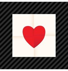 Heart paper vector