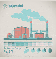 Industrial manufacturing factory template vector
