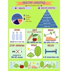 info graphics on the theme of healthy lifestyle vector image