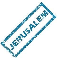 Jerusalem rubber stamp vector