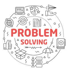 Line flat circle problem solving vector