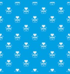 Lingerie beautiful pattern seamless blue vector