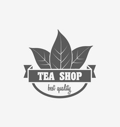 Logo badge or label design concept of tea shop vector