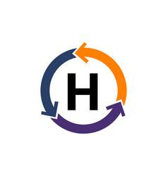 management process letter h vector image