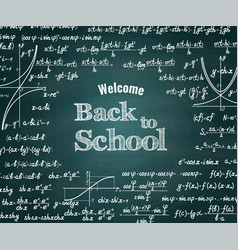 Mathematical back to school background vector