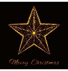 Merry Christmas of lights vector image