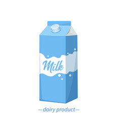 milk carton icon vector image