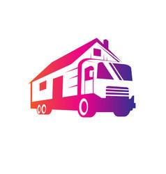 Mover truck logo vector