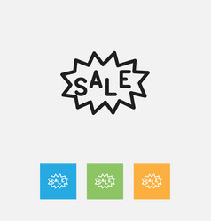 of shopping symbol on discount vector image