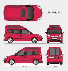 Opel combo 2016 l1h2 passenger van vector