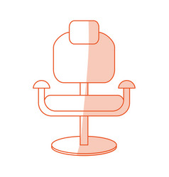Orange shading silhouette cartoon comfortable desk vector