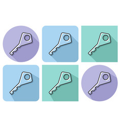 outlined icon of key with parallel and not vector image