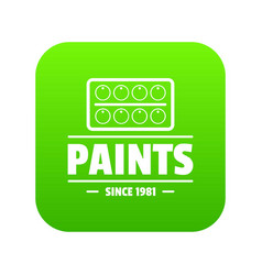 paint tool icon green vector image