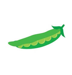 Pod of peas vector