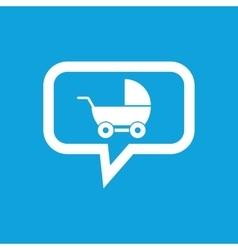 Pram message icon vector